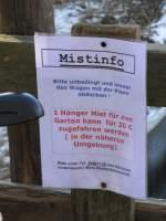 Kurioses/9563/als-30-bild-eine-wahre-mistinfo Als 30. Bild eine wahre 'Mistinfo' ;-) Aber seht selbst..., Freiburg (Brsg) im ausgehenden Jahr 2007